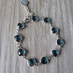 Armband triangel blauw