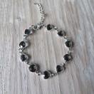 Armband triangel grijs